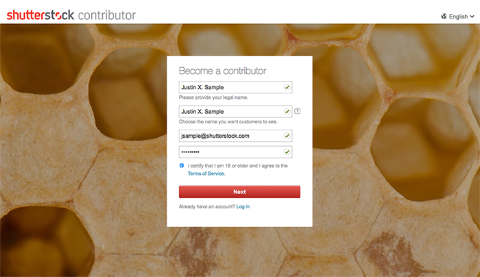 How do I sign up to become a Shutterstock contributor