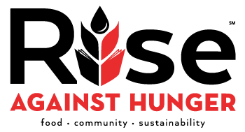 Rise Against Hunger Logo and Link to the home page (this page)